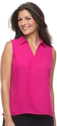 Dana Buchman Women's Sleeveless Splitneck Top