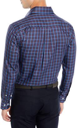 Peter Millar Men's Quarry Falls Plaid Cotton/Silk Sport Shirt