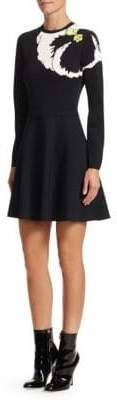 Valentino Pansy Jacquard Knit Dress