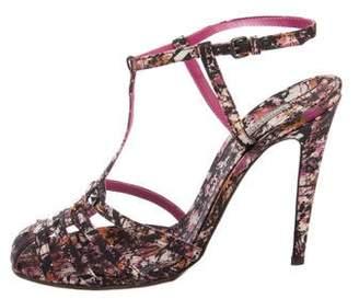 Bottega Veneta Printed T-Strap Sandals