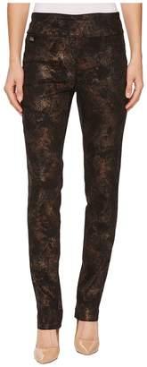 Lisette L Montreal Copper Paisley Print Slim Pants Women's Casual Pants