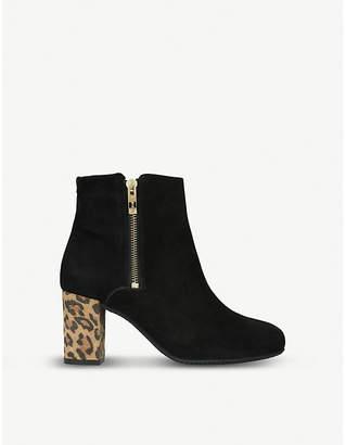 Carvela Comfort Rail leopard-heel suede ankle boots