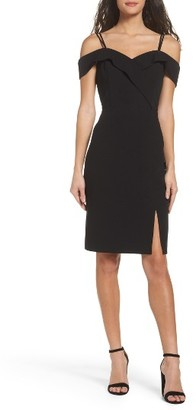 Women's Adelyn Rae Shelby Cold Shoulder Sheath Dress $98 thestylecure.com