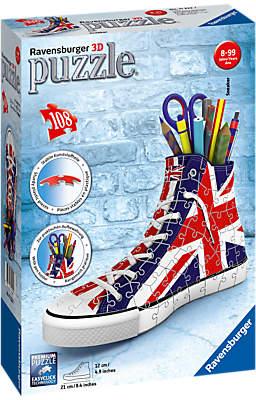 Ravensburger 3D British Flag Shoe Jigsaw Puzzle, 108 Pieces