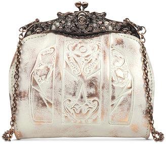 Patricia Nash Copper Metallic Carmonita Mini Frame Bag $129 thestylecure.com