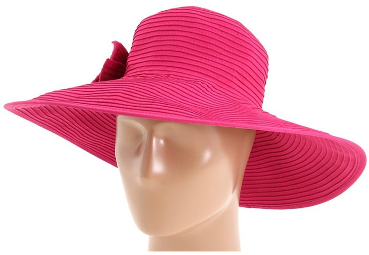 San Diego Hat Company Ribbon Large Brim Floppy Traditional Hat