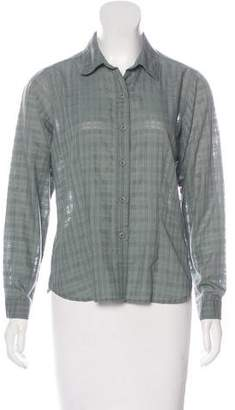 Patagonia Semi-Sheer Button-Up Top $70 thestylecure.com