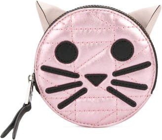 Karl Lagerfeld K/Kuilted Choupette coin purse