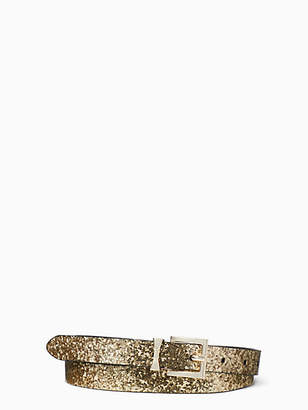 Kate Spade Glitter leather reversible belt