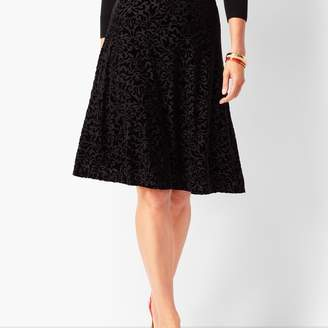 Talbots Velvet Burnout Skirt