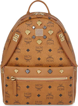 MCM Dual Stark small leather backpack
