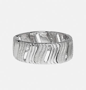 Avenue Silver Textured Wave Bracelet