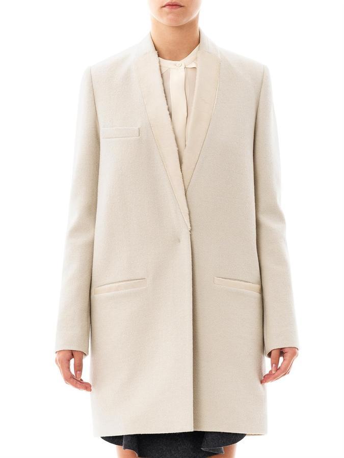 Isabel Marant Ego ponyhair lapel coat