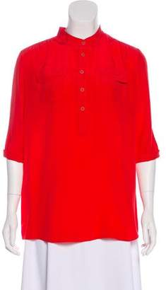 Nieves Lavi Silk Long Sleeve Top