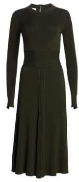 Akris Punto Knit Merino Wool Midi Dress