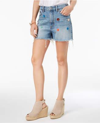 Lucky Brand Pom-Pom Denim Shorts