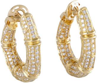 Cartier Heritage  18K 6.00 Ct. Tw. Diamond Hoops