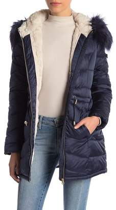 Jessica Simpson Cozy Faux Fur Lined Hooded Jacket