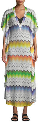 Missoni Mare Printed V-Neck Long Coverup Tunic