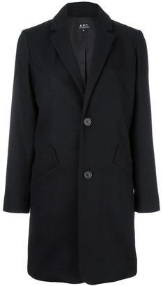 A.P.C. classic buttoned coat $445.53 thestylecure.com