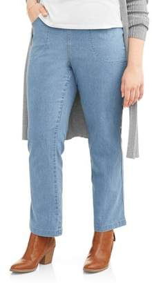 Just My Size Women's Plus-Size 4-Pocket Stretch Bootcut Jeans, Available in Regular and Petite Lengths
