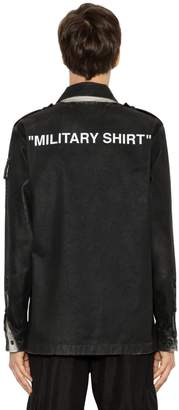 "Off-White ""Military Shirt"" Coated Canvas Jacket"