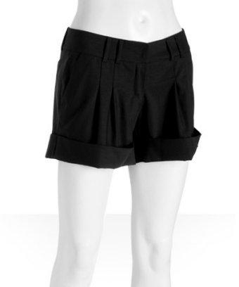 Thomas Wylde Paula Thomas black stretch wool cuffed shorts