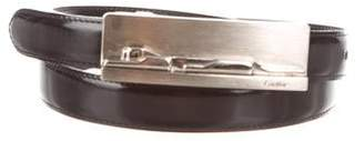 Cartier Leather Skinny Waist Belt