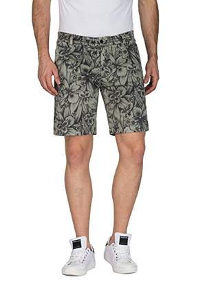 Replay Men's M9610 .000.70529 Short, Green (Lt Green and Blk Flower 10), (Manufacturer Size: 29)