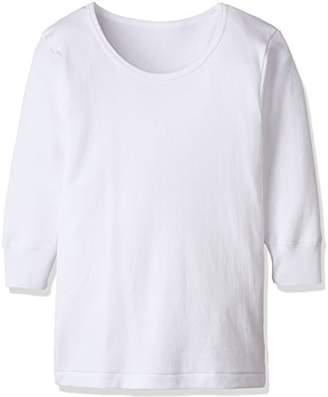 Gunze (グンゼ) - [グンゼ] インナーシャツ あったか厚地 部屋干し・抗菌防臭 綿100% 長袖丸首2枚組 BF23B ボーイズ ホワイト 日本 150 (日本サイズ150 相当)