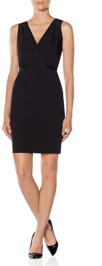 The Limited Pleated V-Neck Pocket Dress