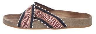 Ulla Johnson Canvas Slide Sandals