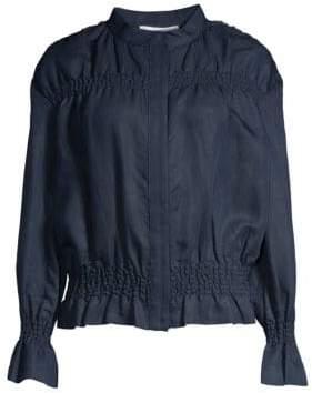 Frame Women's Smocked Jacket - Navy - Size XS