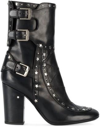Laurence Dacade Black Merli Star Stud 100 Boots
