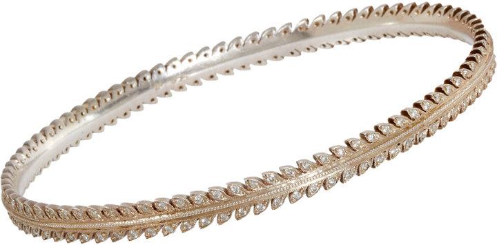 Cathy Waterman Diamond Laurel Leaf Bangle