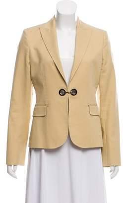 Versace Peaked-Lapel Long Sleeve Blazer