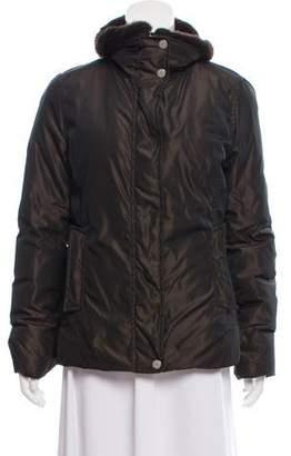 Max Mara Weekend Fur-Trimmed Down Jacket