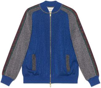 Gucci Wool lame bomber jacket