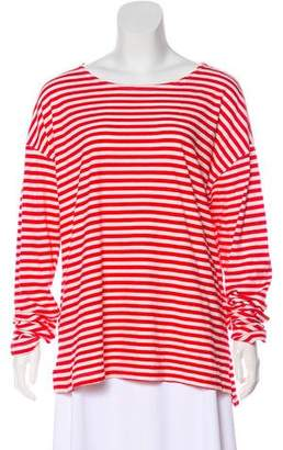 Current/Elliott Long Sleeve Striped Top