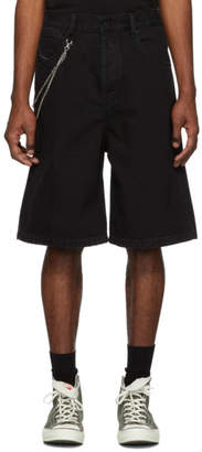 Diesel Black Denim D-Bron Shorts