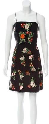 Alice + Olivia Floral Embroidered Mini Dress