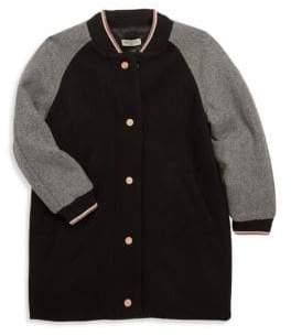 Kenzo Little Girl's& Girl's Long Varsity Jacket