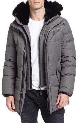 Mackage Edward-BC Lux Down Jacket w/Fur-Lined Hood, Slate $1,150 thestylecure.com