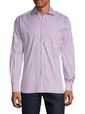 Luciano Barbera Striped Button-Down Shirt
