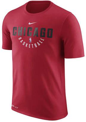 Nike Men's Chicago Bulls Dri-fit Cotton Practice T-Shirt