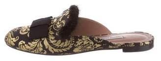 Tabitha Simmons Masha Fur-Trimmed Mules