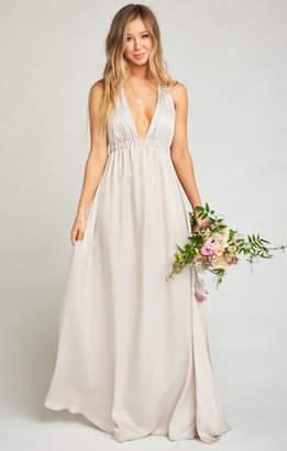 MUMU Luna Halter Dress ~ Show Me the Ring Sheen