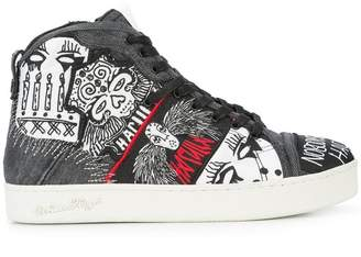 Haculla Nobody's Safe graphic high top sneakers
