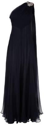 Alexander McQueen Embellished Silk Gown