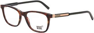 Montblanc MB 631 Tortoiseshell-Look Rectangular Optical Frames